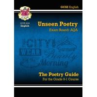 ENGLISH LITERATURE AQA UNSEEN POETRY GUIDE FOR GRADE 9-1 ISBN 9781782943648